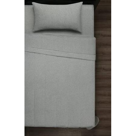 Mainstays Jersey Comforter, T/TXL, Gray