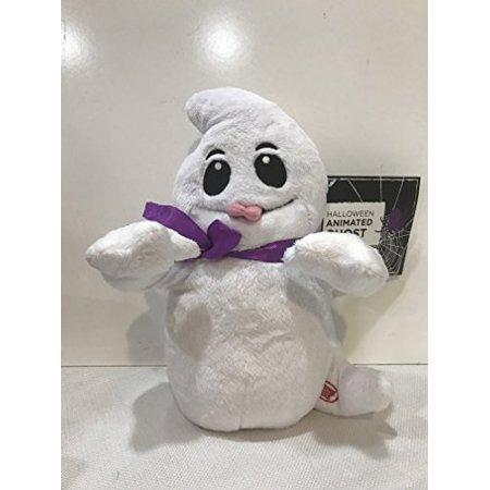 Halloween Animated Giggling Razzing Talking Plush Stuffed Ghost - Talking Tom On Halloween Version