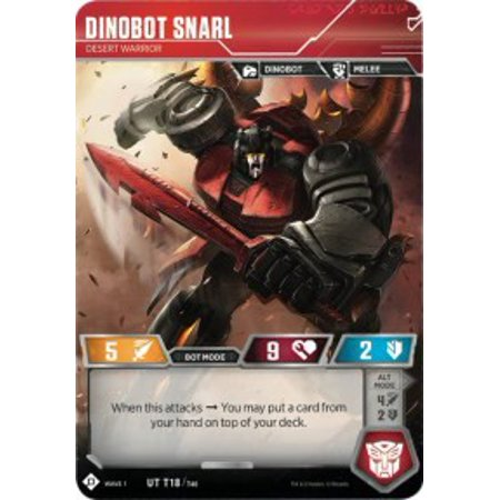 Transformers Wave 1 Dinobot Snarl - Desert Warrior T18