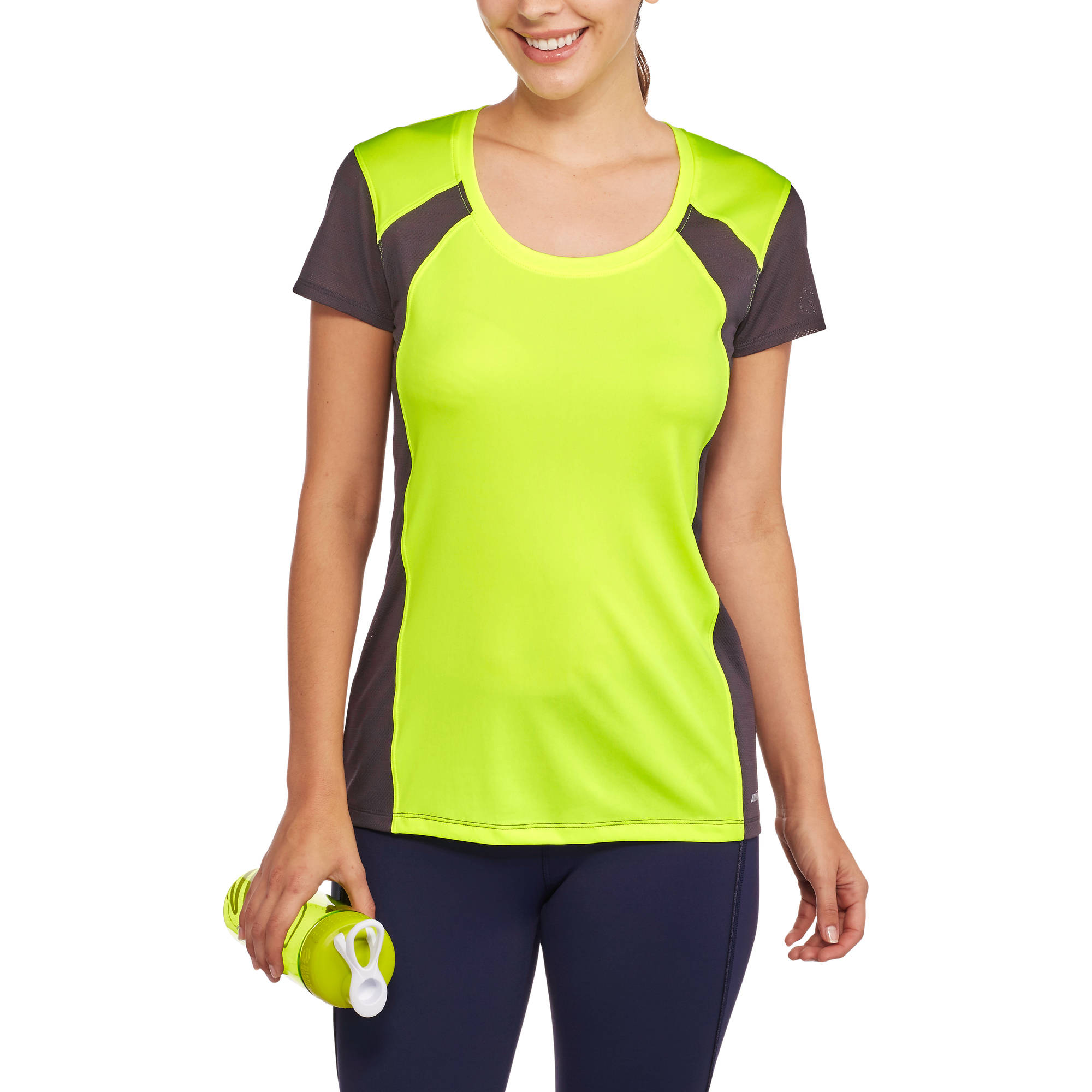 Avia Women's Active Performance Colorblock Tee With Moisture Wicking