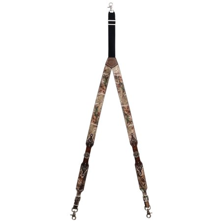 Custom Bifoldhorn Star Realtree AP Camo Leather Suspenders (Custom Suspenders)