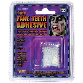 THERMO ADHESIVE TEETH REPLACE. (Halloween 3d Theme)