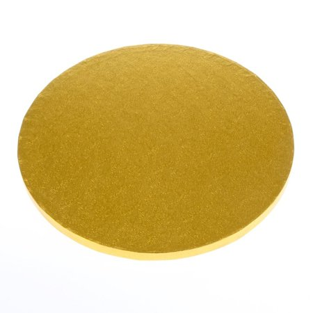 Non Greasy Light - SafePro 22RG, 22-Inch Gold Round Cardboard Cake Pie Pads, 0.5 Inches Thick Non Grease Proof Cake Circles Trays, 12-Piece Pack (12)