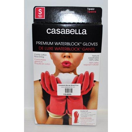 Casabella Water Block Premium Gloves Small Pink (Casabella Premium Water Stop Gloves Small 1pr)