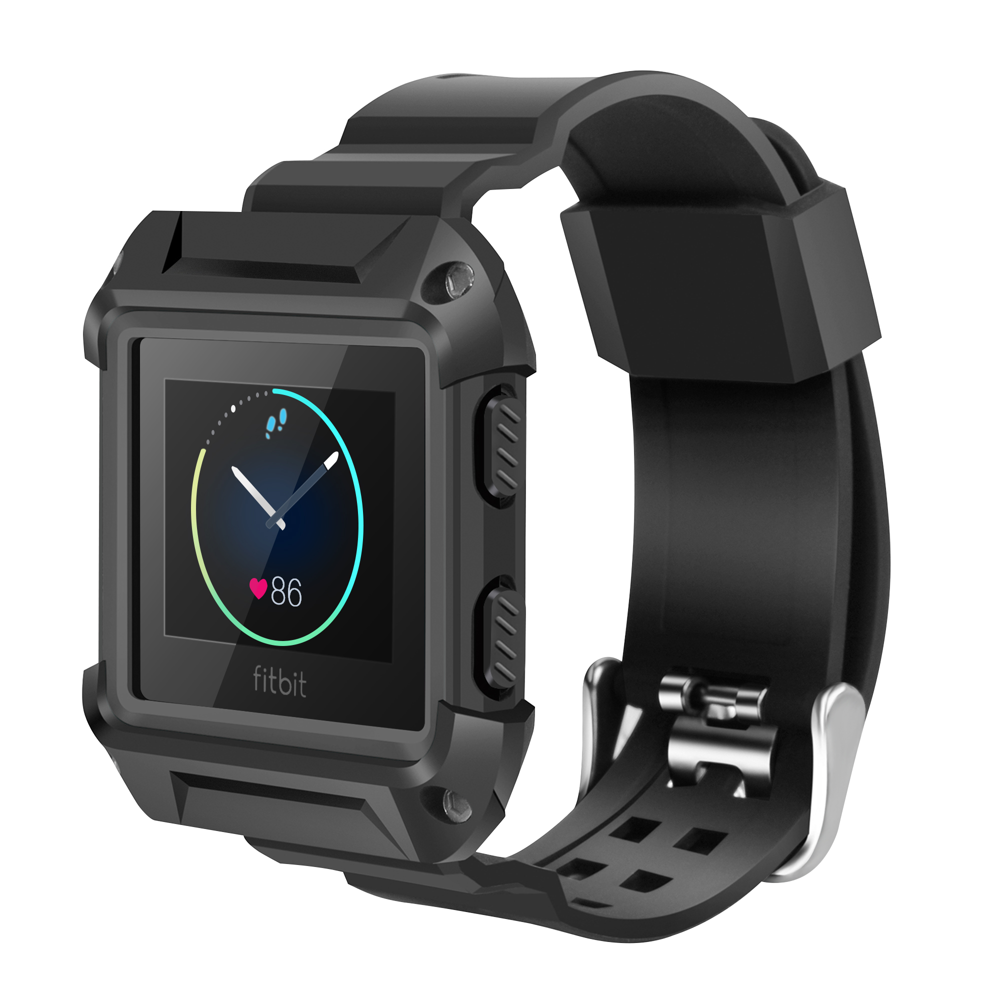 For Fitbit Blaze Bands with Protective Case, Rugged Case Strap Bands for Fitbit Blaze Fitness Smart Watch