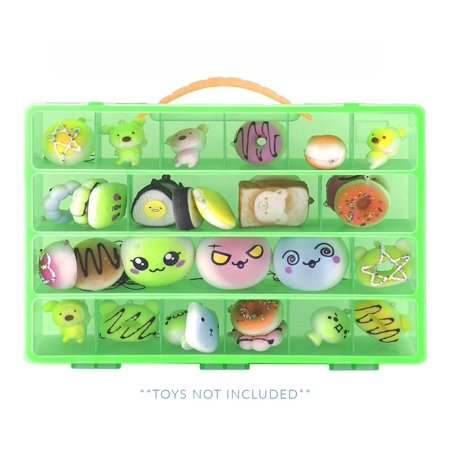 Squishies Case, Toy Storage Carrying Box. Figures Playset Organizer. Accessories For Kids by LMB - Squishy Stores