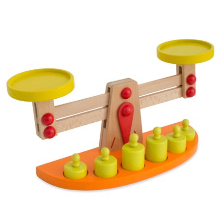 Wooden Balance Scale 12.8 Inches