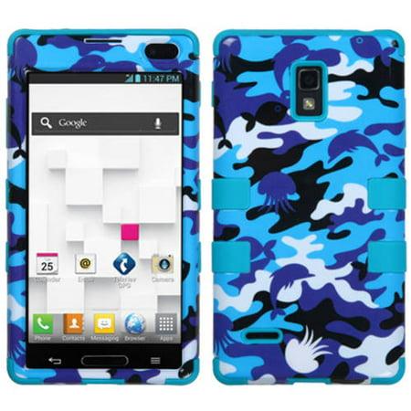 LG P769 Optimus L9 MyBat TUFF Hybrid Protector Case, Aquatic Camouflage/Tropical (My Lg Optimus L9 Wont Turn On)