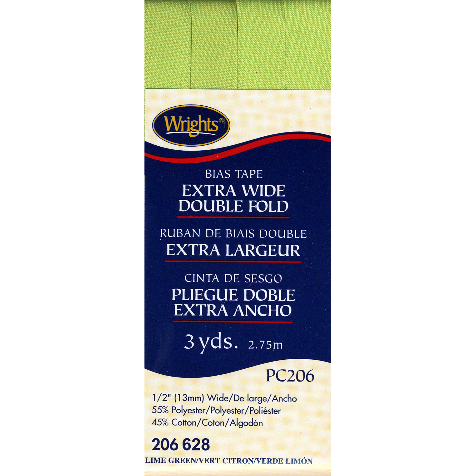 Lime Green Extra Wide Double Fold Bias Tape