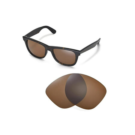 Walleva Brown Polarized Replacement Lenses for Ray-Ban RB2140 54mm Sunglasses