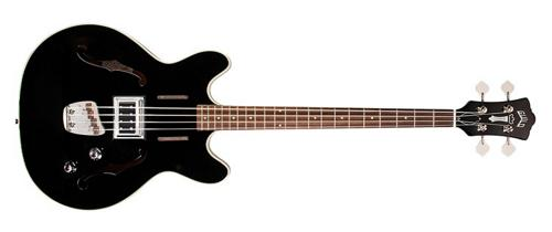 Guild Starfire Bass Semi-Hollow Body Electric Bass Guitar (Black) by