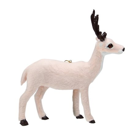 "Kurt S. Adler 6"" Plush Standing Reindeer Christmas Ornament - Pink ()"