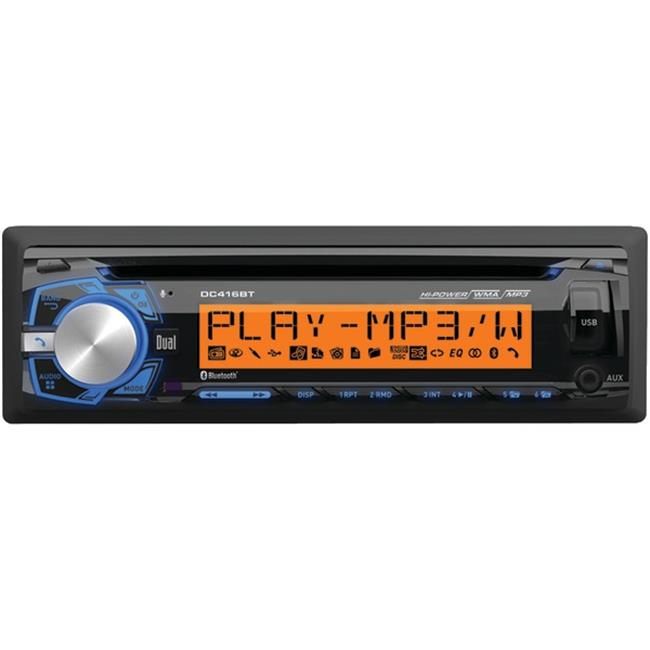 Dual DC416BT Single-DIN In-Dash AM, FM & MP3 CD Receiver with Bluetooth