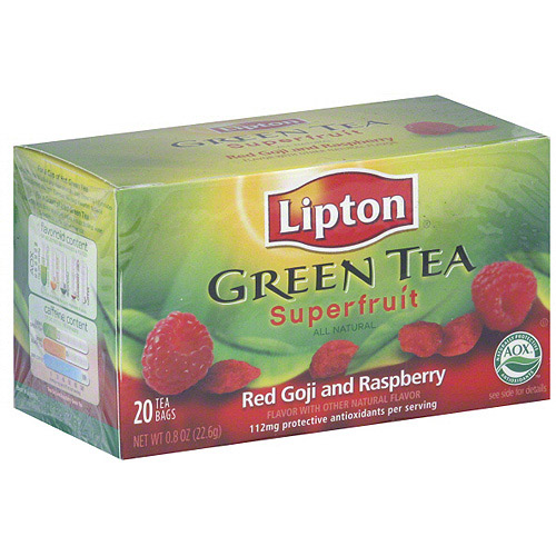 Lipton Red Goji And Raspberry Green Tea, 20ct (Pack of 6)