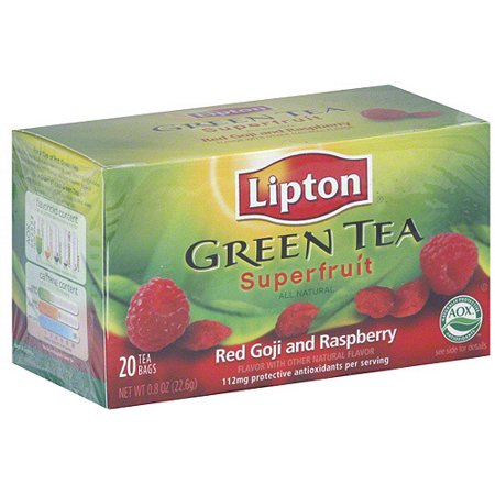 Lipton Red Goji And Raspberry Green Tea, 20ct (Pack of - Goji Raspberry Green Tea