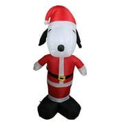 Northlight Seasonal Inflatable Peanuts LED Lighted Snoopy Santa Claus Christmas Yard Art Decoration