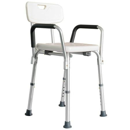 homcom adjustable medical shower chair w arms and backrest walmart