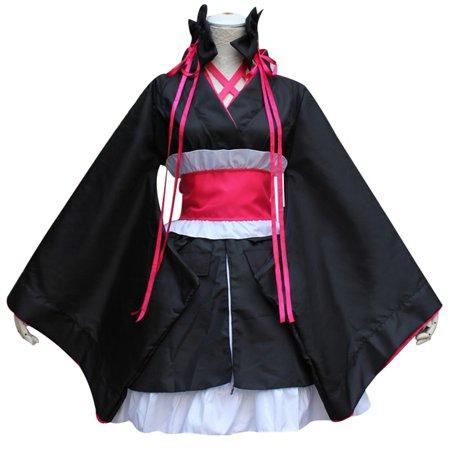 Cute Japanese Halloween Costumes (Raypadula Ingenious Girl Won't Get Hurt Night And Night Cosplay Costume Kimono Sleeve Japanese)