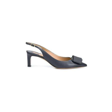 Salvatore Ferragamo Womens Mimmi Leather Pointed Toe Slingback Classic - Salvatore Ferragamo Women Shoes