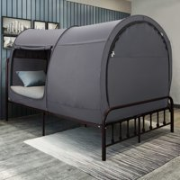 Bed Canopy Tent Privacy Space Queen Size Indoor Curtains Gray Cottage by Alvantor (Mattress Not Included)
