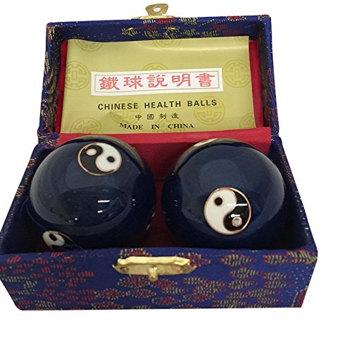 Baoding Balls Chinese health Massage Exercise Stress Balls -Blue YinYang #3