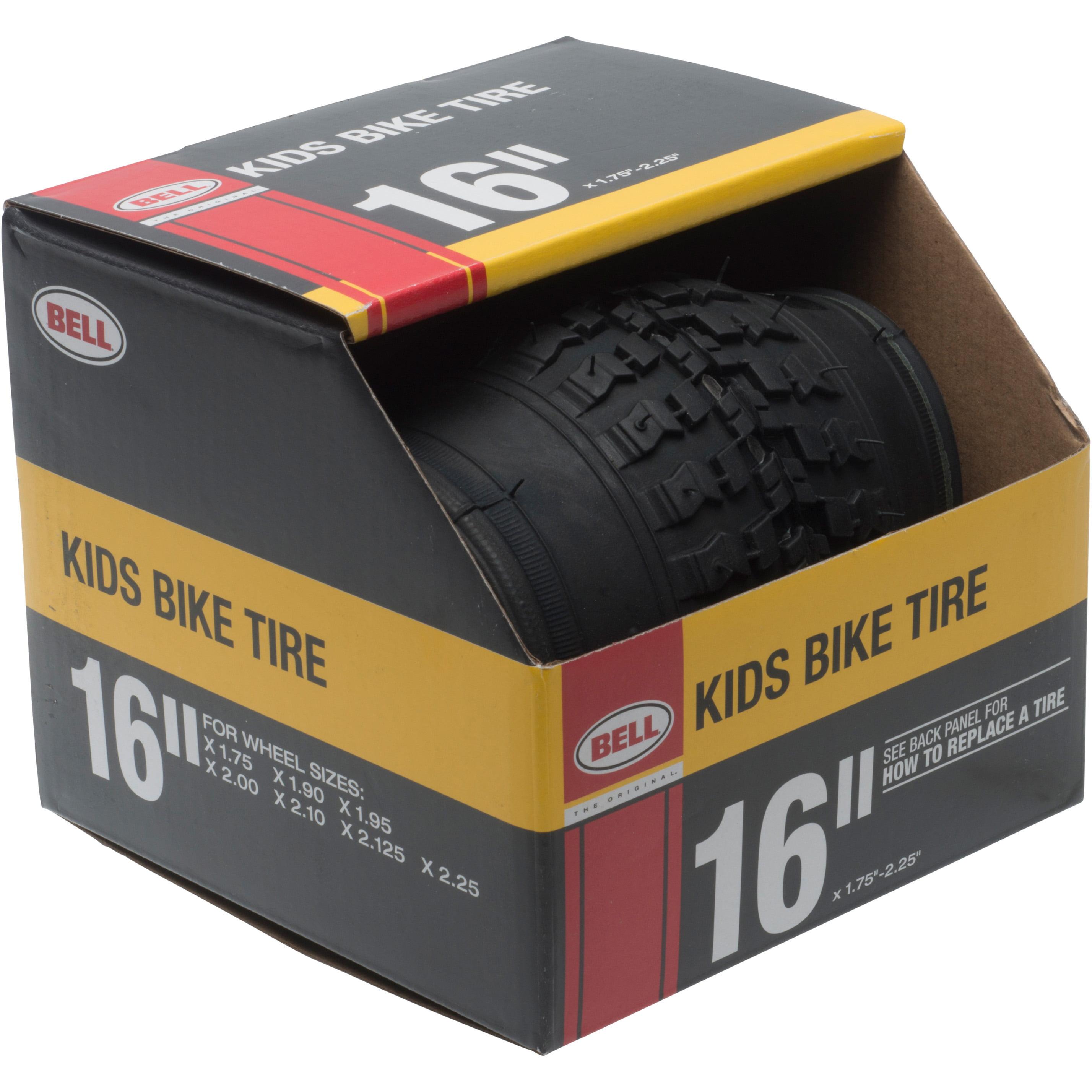 "Bell Standard Kids Bike Tire, 16"" x 1.75-2.25"", Black"