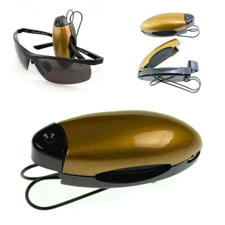 4pc Gold Black Car Sun Visor Clip Holders Sunglasses Reading Eyeglasses Card (Visor Clips)