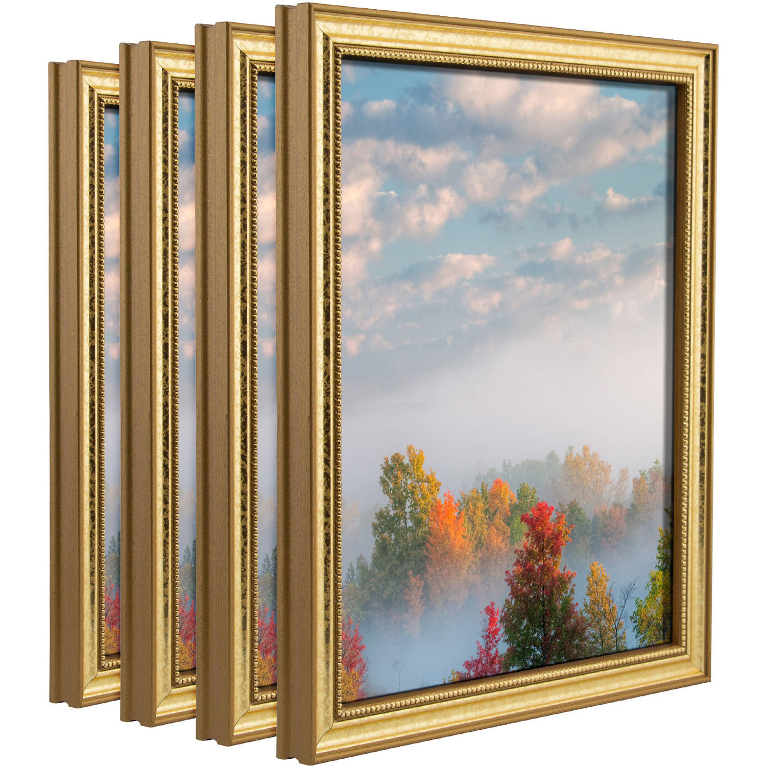 Craig Frames Stratton Aged Gold Queen Ann Picture Frame, Set of 4