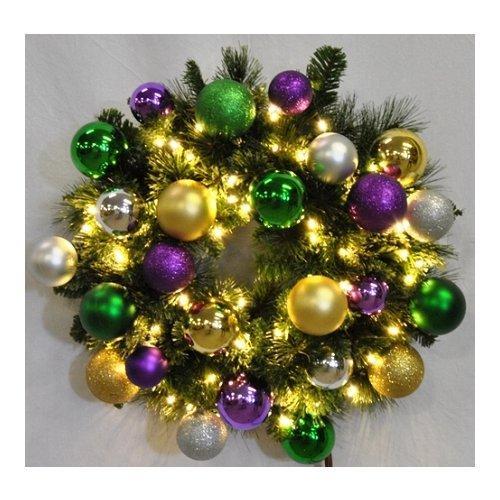 Christmas at Winterland  WL-GWSQ-02-MARDI-LWW  Wreaths  Natural Holiday Wreaths  Holiday Decor  Natural  ;Warm White