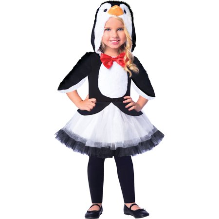 Suit Yourself Chill Out Penguin Costume for Girls, Features a Hooded Bodice with Bow Tie and a Tutu Skirt