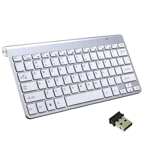 VicTsing 2.4G Wireless Keyboard MINI Waterproof X Structure Compact Keyboard (Black)