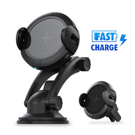 EEEKit Wireless Car Charger 15W Fast Charging Windshield Air Vent Phone Mount Holder with IR Sensor for iPhone XS/XS Max, X/XR, 8/8 Plus, Samsung Galaxy S10/S10E  S9/S9+ & Other Qi (Samsung Ecodry Vent Sensor Steam Moisture Sensor)