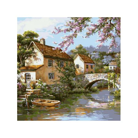 VICOODA DIY Paint by Numbers for Adults DIY Oil Painting Kit Image Drawing Building On Canvas for Kids Girls Beginner