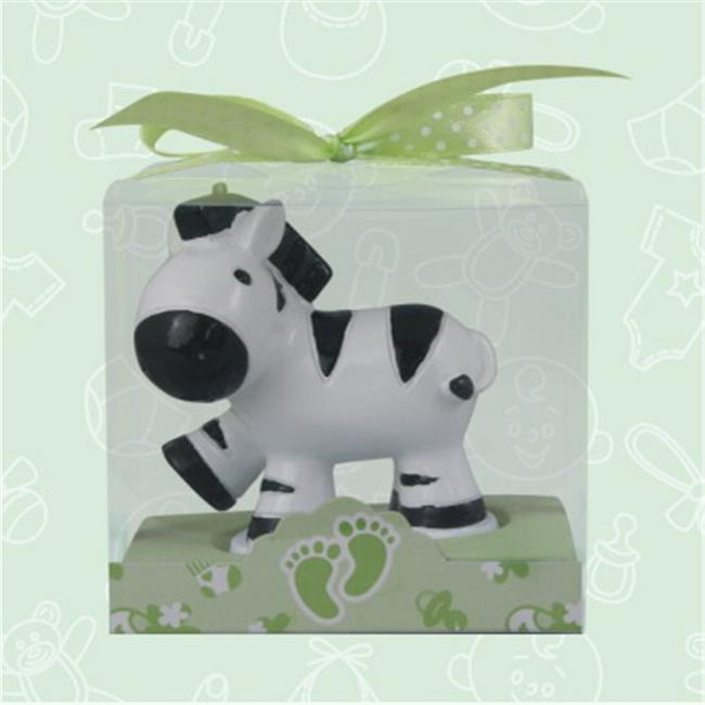 De Yi 11002-BK Safari Zebra Candle Favors in White and Black