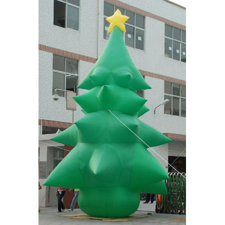 26 huge commercial airblown inflatable christmas tree yard art decor - Walmart Christmas Yard Decorations