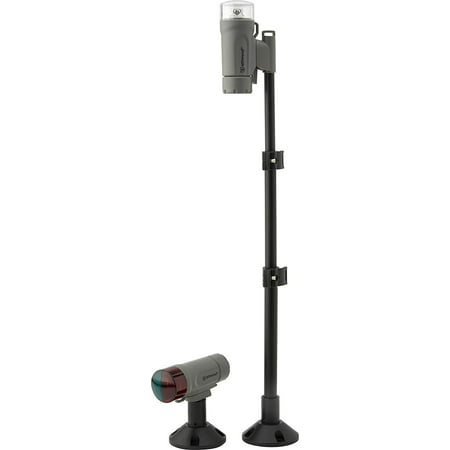 Attwood Screw-Down/Adhesive Pad Mount Portable LED Nav Light Kit With Telescoping Pole