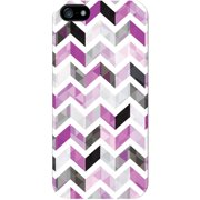 Centon On the Move Apple iPhone 5 White Glossy Case Ziggy Collection, Purple