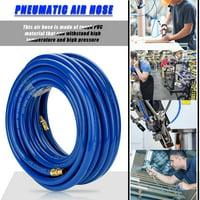 15M Blue Flexible Pneumatic PVC Hose with Quick Connector for Air Compressor, Pneumatic Air Hose, Air Line Hose