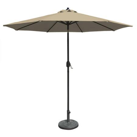 Island Umbrella Mirage 9-ft Octagonal Auto-Tilt Market Umbrella