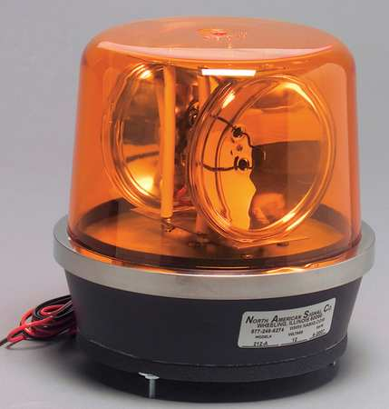 212-ACA Warning Light, Revolving, Amber
