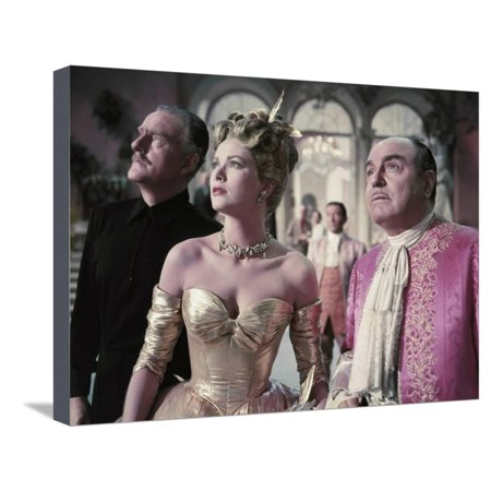 La Main au Collet TO CATCH A THIEF by AlfredHitchcock with John Williams, Grace Kelly and Rene Blan Stretched Canvas Print Wall