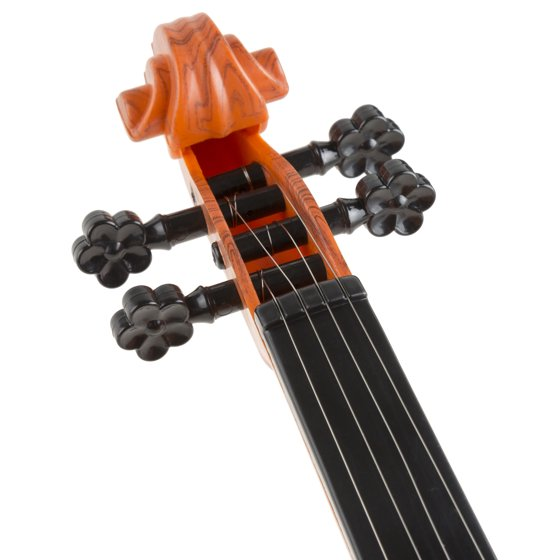 Kid's Toy Violin with 4 Adjustable Strings and Bow - Musical Sounds-  Realistic-Looking Instrument for Learning Classical Music by Hey! Play!