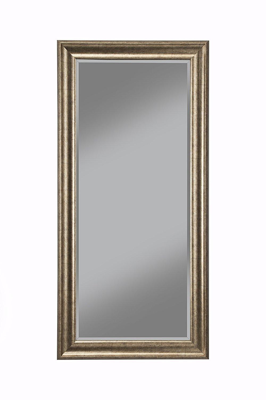 Sandberg Furniture 14111 Full Length Leaner Mirror Frame Antique Gold Walmart Com Walmart Com