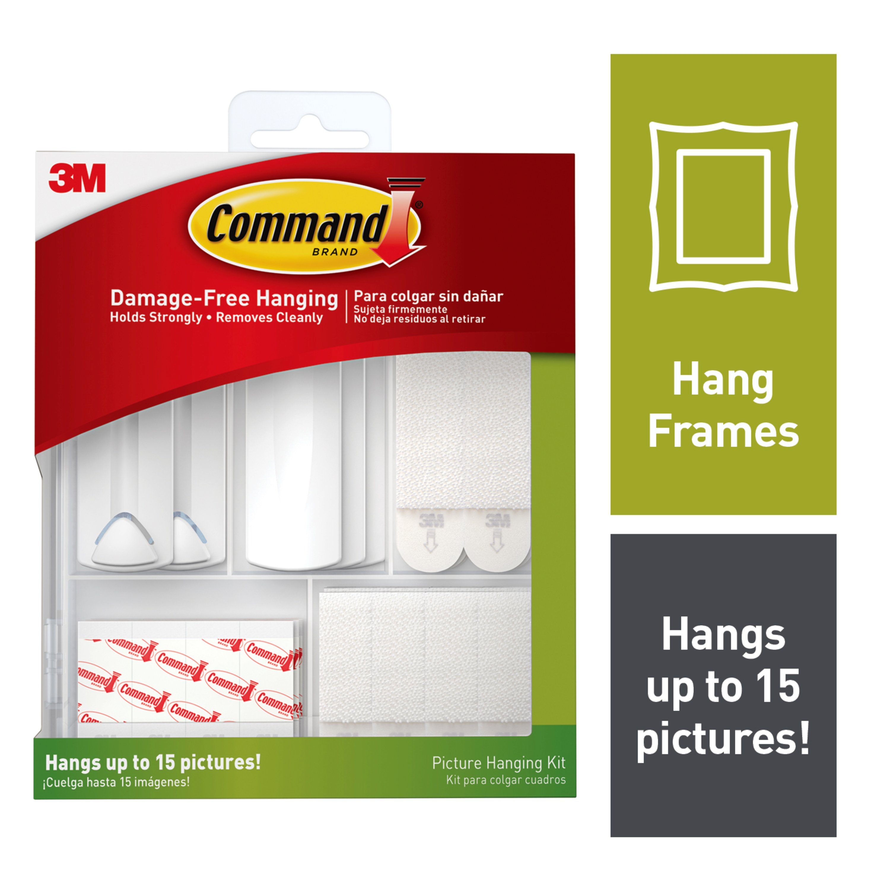 Command Picture Hanging Kit Contents 3 Sawtooth Picture Hangers 2