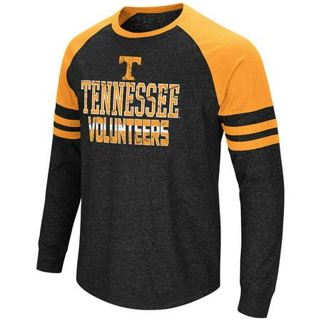 (Mens Tennessee Volunteers Hybrid Long Sleeve Raglan Tee Shirt)