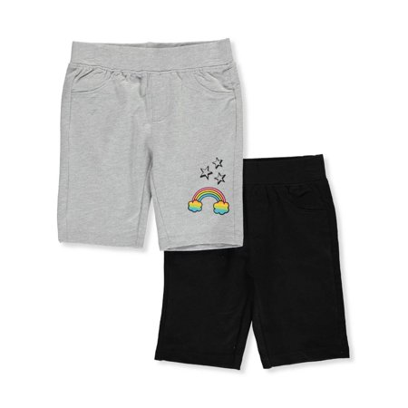 Radio Star Shorts - Star Ride Girls' 2-Pack Bermuda Shorts