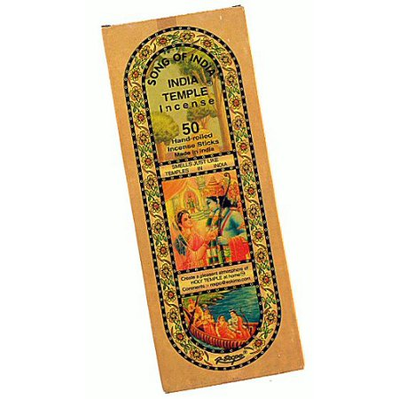 1 X India Temple Incense - Song of India - 50 Stick Medium (Mystic Temple Incense)
