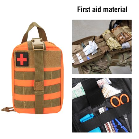 WALFRONT Outdoor Survival Military First Aid Bag Climbing Emergency Medical  Pouch,First Aid Bag, Medical Bag