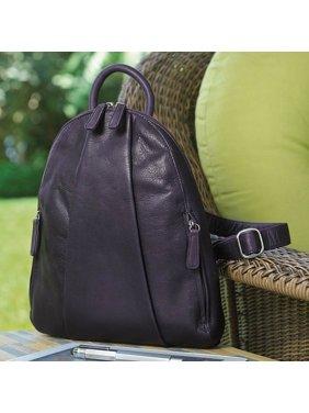 Product Image Osgoode Marley Marley Teardrop Multi Zip Backpack - Plum a927287f0d12d