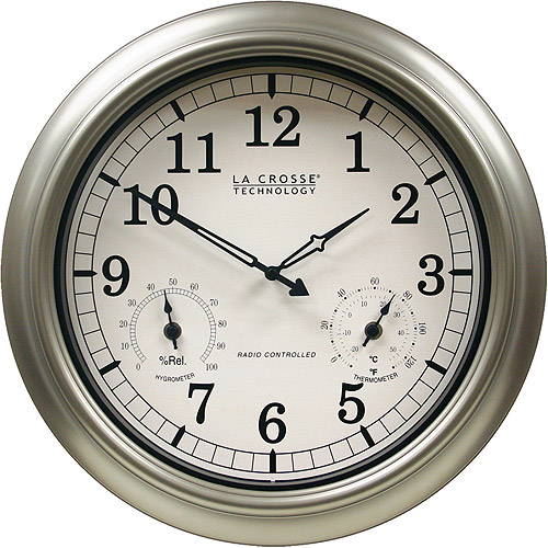 "La Crosse Technology 18"" Atomic Outdoor Wall Clock"